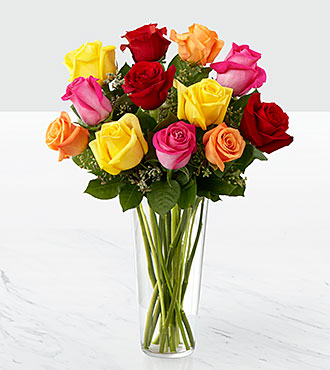 Red and yellow floral arrangement